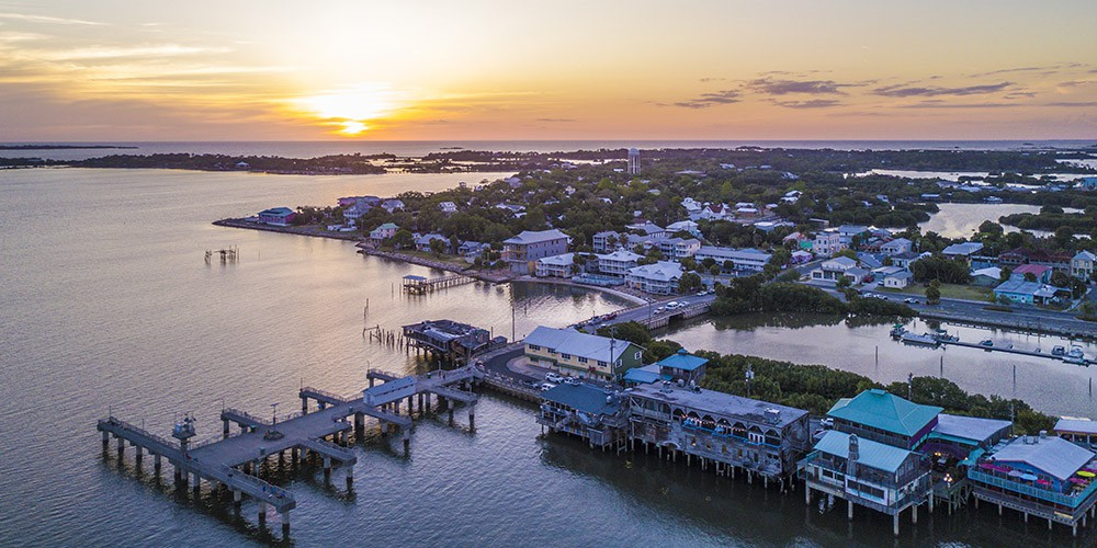 aerial view of Cedar Key